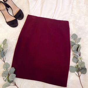 Burgandy pencil skirt